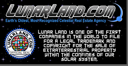 Become a Lunar land owner by purchasing Moon land today! Official Lunar Embassy authorized agent.